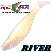 Relax Kopyto River Gummifisch 10cm Perlweiss