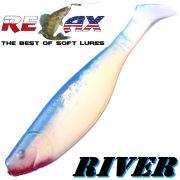 Relax Kopyto River Gummifisch 10cm Reinweiss Blau