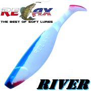 Relax Kopyto River Gummifisch 10cm Reinweiss Blau RT