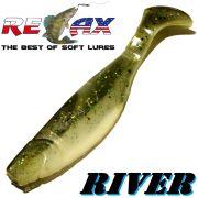 Relax Kopyto River Gummifisch 10cm Reinweiss Dunkelgrün
