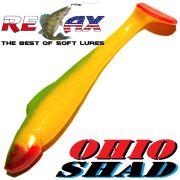Relax Ohio Shad 2,5 Gummifisch ca. 7cm Farbe Gelb Grün RT 1 Stück Barsch&Zanderköder