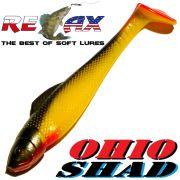 Relax Ohio Shad 2,5 Gummifisch ca. 7cm Farbe Gelb Schwarz RT 5 Stück im Set Barsch&Zanderköder