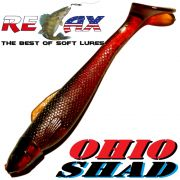 Relax Ohio Shad 2,5 Gummifisch ca. 7cm Farbe Motoroil 5 Stück im Set Barsch&Zanderköder