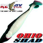 Relax Ohio Shad 2,5 Gummifisch ca. 7cm Farbe Reinweiss Schwarz RT 5 Stück im Set Barsch&Zanderköder