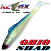 Relax Ohio Shad 4 Gummifisch ca. 10,5cm Farbe Blauperl Glitter Blau 1 Stück Barsch&Zanderköder