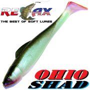 Relax Ohio Shad 4 Gummifisch ca. 10,5cm Farbe Blauperl Schwarz RT 1 Stück Barsch&Zanderköder