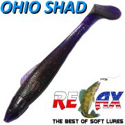 Relax Ohio Shad 4 Gummifisch ca. 10,5cm Farbe Dorschkiller 5 Stück im Set Barsch&Zanderköder