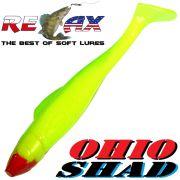 Relax Ohio Shad 4 Gummifisch ca. 10,5cm Farbe Fluogelb Fluogrün 1 Stück Barsch&Zanderköder