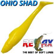 Relax Ohio Shad 4 Gummifisch ca. 10,5cm Farbe Gelb 5 Stück im Set Barsch&Zanderköder