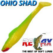 Relax Ohio Shad 4 Gummifisch ca. 10,5cm Farbe Gelb Grün 5 Stück im Set Barsch&Zanderköder