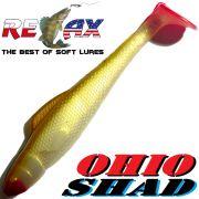 Relax Ohio Shad 4 Gummifisch ca. 10,5cm Farbe Goldperl Goldbraun RT 1 Stück Barsch&Zanderköder