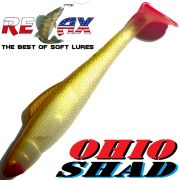 Relax Ohio Shad 4 Gummifisch ca. 10,5cm Farbe Goldperl Goldbraun RT 5 Stück im Set Barsch&Zanderköder