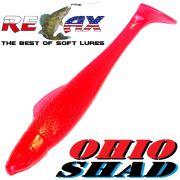 Relax Ohio Shad 4 Gummifisch ca. 10,5cm Farbe Japan Rot 5 Stück im Set Barsch&Zanderköder