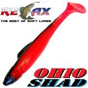 Relax Ohio Shad 4 Gummifisch ca. 10,5cm Farbe Japan Rot Schwarz 1 Stück Barsch&Zanderköder