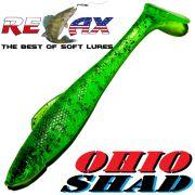 Relax Ohio Shad 4 Gummifisch ca. 10,5cm Farbe Lime Pepper 1 Stück Barsch&Zanderköder