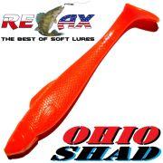 Relax Ohio Shad 4 Gummifisch ca. 10,5cm Farbe Orange 5 Stück im Set Barsch&Zanderköder