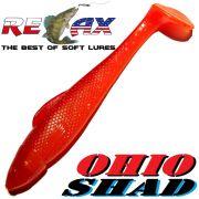 Relax Ohio Shad 4 Gummifisch ca. 10,5cm Farbe Orange Glitter Rot 1 Stück Barsch&Zanderköder