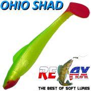 Relax Ohio Shad 4 Gummifisch ca. 10,5cm Farbe Perl Grün RT 5 Stück im Set Barsch&Zanderköder