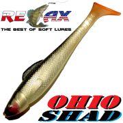 Relax Ohio Shad 4 Gummifisch ca. 10,5cm Farbe Perl Schwarz OT 1 Stück Barsch&Zanderköder