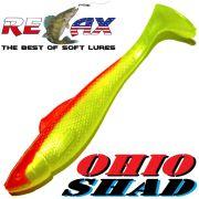 Relax Ohio Shad 4 Gummifisch ca. 10,5cm Farbe Perlfluogelb Rot 1 Stück Barsch&Zanderköder