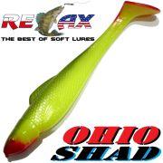 Relax Ohio Shad 5 Gummifisch ca. 14cm Farbe Fluogelb Olive RT 1 Stück Hecht&Zanderköder
