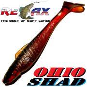 Relax Ohio Shad 5 Gummifisch ca. 14cm Köderfarbe Motoroil (S091)1 Stück Hecht&Zanderköder
