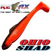 Relax Ohio Shad 5 Gummifisch ca. 14cm Farbe Orange Braun 1 Stück Hecht&Zanderköder