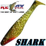 Relax Shark Gummifisch 4 10cm Gold Glitter Schwarz