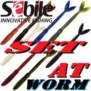Sebile AT Worm Sinking Gummiwurm-Set 178mm 15g 8 Farben je 2 Stück = 16 Stück im Set TESTKID