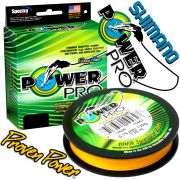 Shimano Power Pro geflochtene Angelschnur Hi-Vis Yellow 0,08mm 4kg 275m