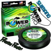 Shimano Power Pro geflochtene Angelschnur Moss Green 0,08mm 4kg 275m