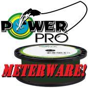 Shimano Power Pro geflochtene Angelschnur Moss Green 0,10mm 5kg 300m Meterware auf neutraler Leerspule