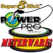 Shimano Power Pro Super 8 Slick geflochtene Angelschnur Hi-Vis Yellow 0,13mm 8kg 100m Meterware