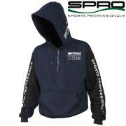 Spro 7100 Team Hooded Sweatshirts Kapuzenpullover Gr. L 400g/m² Farbe Dunkelblau & Schwarz