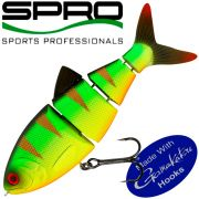 Spro BZZ-1 Baby Shad Swimbait 2,5 6,5cm 6,5g Sinking Mat Fire Tiger