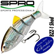 Spro BZZ-1 Shad Swimbait 4 10cm 25g Slow Sinking Blue Black Herring real Swimming Action!