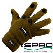 Spro Fleece Angelhandschuh Größe L mit 40g Thinsulate und gummierten Handflächen sowie geschlitzten Fingern!