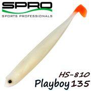 Spro HS Shads HS 810 Playboy 135 Gummifisch 135mm Farbe Bloody Tail 4 Stück im Set