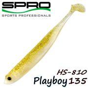 Spro HS Shads HS 810 Playboy 135 Gummifisch 135mm Farbe Crystal Gold 4 Stück im Set