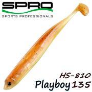 Spro HS Shads HS 810 Playboy 135 Gummifisch 135mm Farbe Pearl Brown 4 Stück im Set