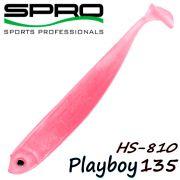 Spro HS Shads HS 810 Playboy 135 Gummifisch 135mm Farbe Pink Lady 4 Stück im Set