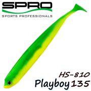 Spro HS Shads HS 810 Playboy 135 Gummifisch 135mm Farbe Yellow Green 4 Stück im Set