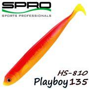 Spro HS Shads HS 810 Playboy 135 Gummifisch 135mm Farbe Yellow Red Tail 4 Stück im Set