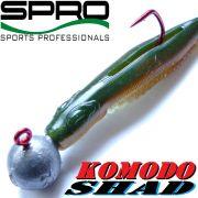 Spro Komodo Shad Gummifisch 9cm Farbe Brown Glitter Swimbait 1 Stück Barsch & Zanderköder