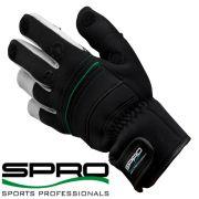 Spro Neopren Angelhandschuh Farbe Schwarz Größe L mit gummierten Handflächen & geschlitzten Fingern!