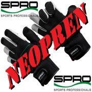 Spro Neopren Angelhandschuh Farbe Schwarz Größe XL mit gummierten Handflächen & geschlitzten Fingern!