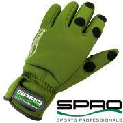 Spro Power Thermal Angelhandschuh Gr. L mit gummierten Handflächen und geschlitzten Fingern!