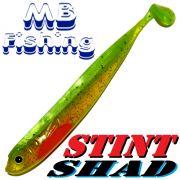 Stint Shad Gummifisch 160mm Farbe Hot Greeny 3 Stück im Set Hecht & Zanderköder