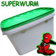 Superwurm Wurmzuchteimer Volumen 6 Liter + 3 Liter Spezialwurmerde ideal für Wurmzucht & Hälterung