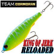 Team Cormoran King of Jerk Reloaded Jerkbait 150mm 72g Slow Sinking 1 Stück Farbe Green Chartreuse